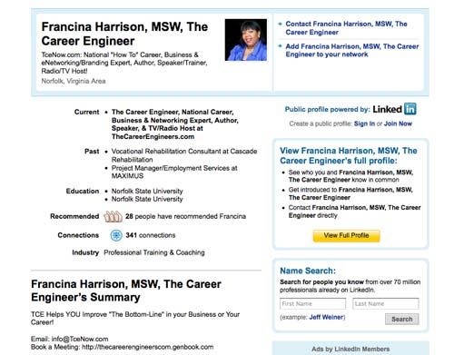 "LinkedIn (www.linkedin.com/in/careerengineer):    One of the main things I love about this community is its non social factors...this is a ""grown folks"" platform for serious business owners and professionals.  Our business model is satisfied in this community via skill marketing our career changing clients; creating synergy with headhunters, contract recruiters and JV/procurement opportunities with small/large businesses.    One of the most beneficial areas on LinkedIn for TCE which has created increased revenue and access... is the endorsement feature. When I am asked for references of our work, I immediately provide the decision maker (in REAL time) to our LI endorsements (which stand at 30 right about now) and these testimonials have shelf life that is priceless.   We also enjoy engaging in group functions; Q&A and discussions which helps us connect with folks that are NOT a part of our networking sphere.  Again building credibility that can convert to commerce.  Yes, I have ""closed business"" via the power of this community."
