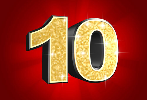 10: The number of years a bankruptcy stays on your credit report.