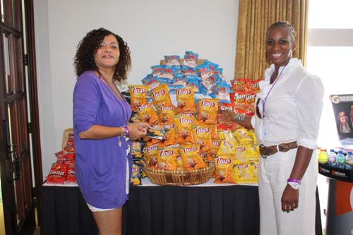 Snacks provided by sponsor Frito Lay were plentiful at registration and throughout the LaCosta Resort and Spa property during the Black Enterprise Pepsi Golf & Tennis Challenge. (Photo by LaToya M. Smith)