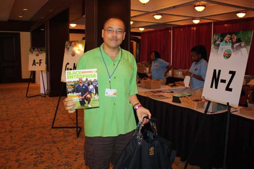 Challenge attendee proudly shows off September 2010 issue of Black Enterprise. (Photo by LaToya M. Smith)