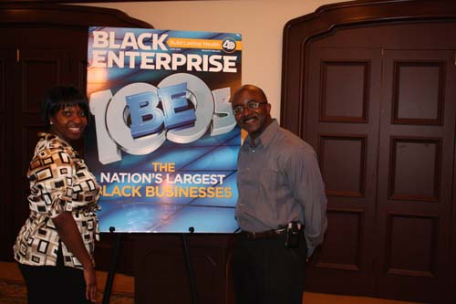 Joy McKenzie, president of the Los Angeles Chapter of the National Sales Network and BlackEnterprise.com Editor-in-Chief Alfred Edmond Jr. (Photo by LaToya M. Smith)