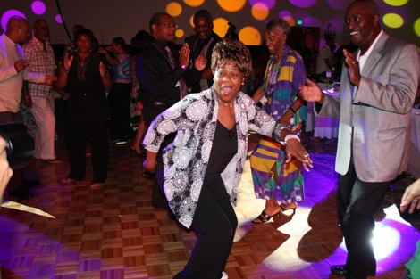 Awe, sooky sooky! Media personality, author and motivational speaker Mother Love steps out on the dance floor and shakes a tail feather. (Photo by LaToya M. Smith)