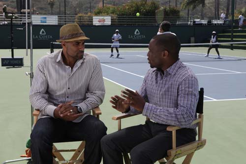 "Prior to joining the ""American Express Inside Access"" panel of stars, Kodjoe is interviewed for Our World with Black Enterprise by the syndicated television show's new host, Dr. Marc Lamont Hill."