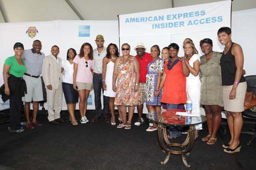 """The Hollywood stars are joined by the """"celebrities"""" of American Express."""