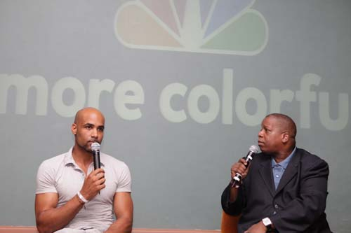 "A surprise bonus for Challenge attendees at the screening: Boris Kodjoe, the star of NBC's Undercovers (opposite Gugu Mbatha-Raw). Kodjoe, who was raised in Germany and speaks several languages, tells Dingle that the role of international super spy Steven Bloom ""is closer to who I really I am than any other role I've played."" Undercovers premieres on Wednesday, September 22, 8:00pm EST/7:00pm CST."