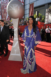 Looking glamorous at the 2009 ESPY (Excellence in Sports Yearly) Awards