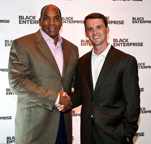 Black Enterprise and Porsche joined forces to celebrate something they have in common--intelligent performance. For BE it's the way African American businessmen and women and our BE 100s CEOs have strategically maneuvered their companies to the top of their industry. For Porsche it's the way their new and improved, ultra-high-performance sports cars maneuver the road. What happened when these two companies came together at the Porsche Sport Driving School in Leeds, AL? Speed, fun, and of course, unparalleled performance.  	 Photo, Butch Graves, Jr., Black Enterprise President & CEO, and David Pryor, VP of Marketing, Porsche Cars North America.