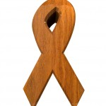 HIV Ribbon Wood