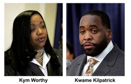 MARCH 24, 2008: Prosecutor Kym Worthy filed a 12-count criminal indictment against Kilpatrick and former Detroit Chief of Staff Christine Beatty.  The charges for both included perjury, misconduct in office and obstruction of justice.