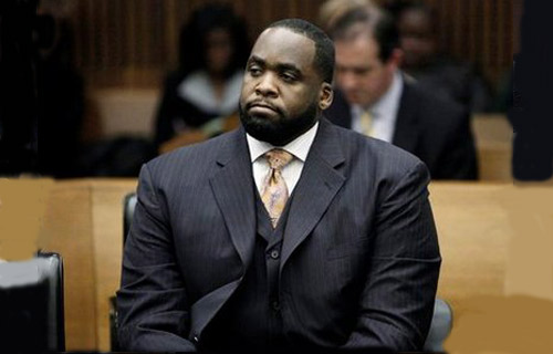 AUGUST 7, 2008: Kilpatrick was remanded to spend a night in jail, following a bail violation. Reportedly, on July 23, the Mayor traveled to Windsor, Ontario for a meeting without obtaining the court's permission to leave the state and country.  Kilpatrick was released the next day after posting a $50,000 cash bond and agreeing to wear a tethering device and no longer traveling outside of city limits.