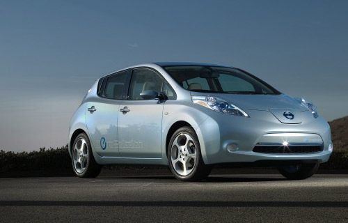 """NISSAN LEAF: Japanese mainstay Nissan has dared to go where no other major auto manufacturer has; 100% electric. A (forced) acronym for Leading Environmentally-friendly Affordable Family-car, the LEAF has already sparked significant waiting lists and may knock the almighty Prius (we'll get to that later) off its podium of being the environmental """"it"""" car. MSRP: $32,780"""