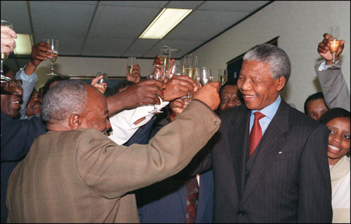 1993 Nobel Peace Prize Winner  	The former South African president won the award with Frederick Willem de Klerk for their efforts to change South African society.