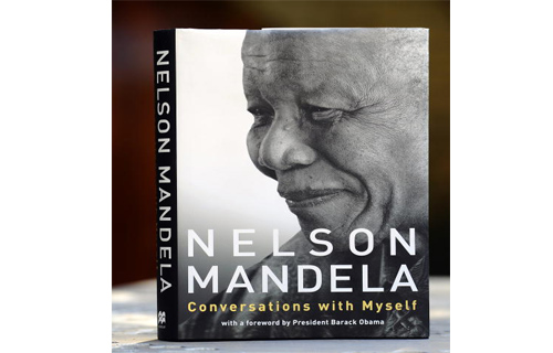 Conversations with Myself  The book gives readers an inside look into the life of the private, political figure.  Conversations with Myself, released worldwide in 22 editions and 20 languages, includes letters written in his prison cell to pages from the unfinished sequel to his autobiography, Long Walk to Freedom. The book launched in October 2010.  For more content, read:  10 Remarkable Career Comebacks  10 Great Reads From Russell Simmons' Bookshelf  Jay-Z's Marketing Power Decoded