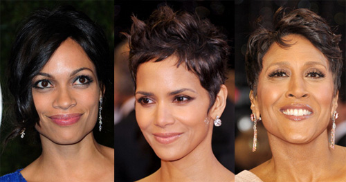 Like the best elevator pitch or business plan, in terms of giving good face, the more simple and edited, the better. These ladies exemplify the beauty of simplicity at its best. As seen on Rosario Dawson, Halle Berry, and Good Morning America host Robin Roberts, a fresh face with a nude or pink lip, a sweep of eye liner and a quick coat of mascara can be all you need to complete the perfect evening look.  	For more on African American film actors and style, check out: 	10 Movies That Weren't Supposed to Star Black Actors 	10 Movie Roles that Weren't Meant for Black Women 	The Power of Color: 9 Women Who Nail It  	The High Life: Shopping for Rare Vintage