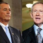 Boehner and Reid faceoff (Source: Senate.gov/House.gov)