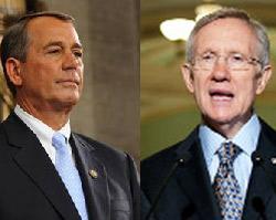 Boehner and Reid faceoff (Source: Senate.gov/House.gov)
