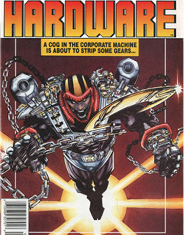 "Hardware # 1 was the first title from Milestone and was written and illustrated by Milestone co-founders McDuffie and Cowan, respectively. The character was Curtis Metcalfe, a brilliant African American inventor who developed the high-tech ""Hardware Shell"" to fight crime in the urban hub of Dakota. Milestone's partners and staff always suspected that Hardware was McDuffie's alter ego."