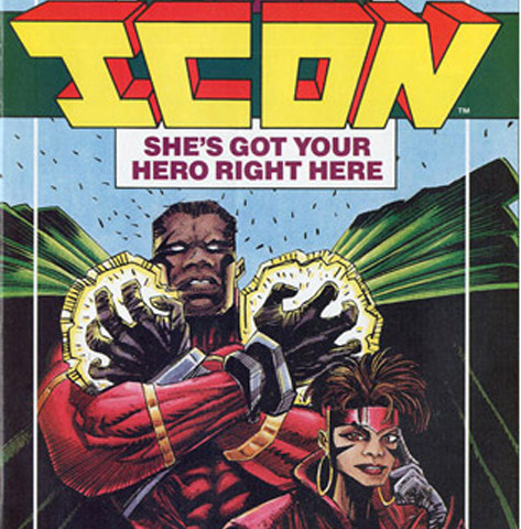 Icon #1 was also co-created and written by McDuffie and illustrated by M.D. Bright. Icon, the hero of Dakota,  was groundbreaking on a number of levels: Icon's alter ego was Augustus Freeman IV, a conservative Republican, and his sidekick, Rocket, would eventually become the first teenage mother to fight crime. The two challenged each other to use their intellect and powers to empower themselves while improving their community.