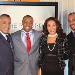 Host Marc Lamont Hill (center) with the esteemed State of the Union panelists