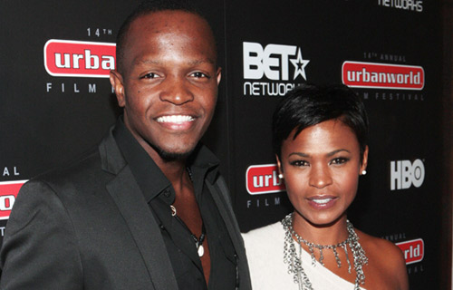 """Basir with actress Nia Long at the 2010 Urbanworld Film Festival (Press)  PUT THE FILM BEFORE FAME:   Being in the movie business comes with many accolades and perks, but, as an artist, Basir doesn't concern himself with that. He warns young filmmakers that the process of making a movie is not easy but getting caught up in Hollywood's flashing lights is. """"There are so many people that I run into in my journey who are fascinated by the idea of fame, recognition, red carpets, the paparazzi and all that, which to me is not important at all,"""" he says. """"So along the way they get discouraged like, 'Aw, man, I want to be famous…' There's no real substance behind that so being that [this business] is as difficult as it is, I believe that you have to have something going in this thing with substance."""""""