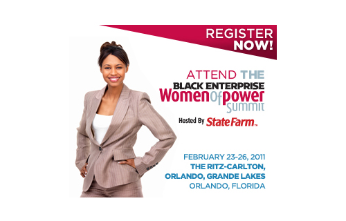 Want to join us? As an incentive, Black Enterprise is offering you $200 off registration. Just enter code WEB995 at BlackEnterprise.com/WPS. Offer ends Friday Feb. 18, 2011. See you there!  For more Women of Power coverage, read:Top 10: Women of Power 	How Women of Power Network!  	 Exclusive: Naomi Campbell Offers Up-and-Comers Industry Advice (Video)