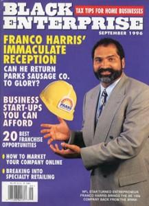 Harris' 1996 Black Enterprise Cover