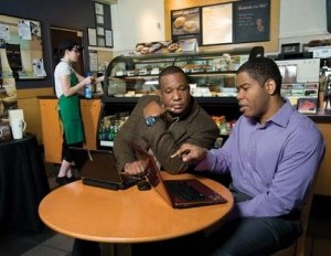 Raymond Aker (left) and OBrian Woods, cofounders of BidMyCleaning.com (Photo: Joe Abraham)