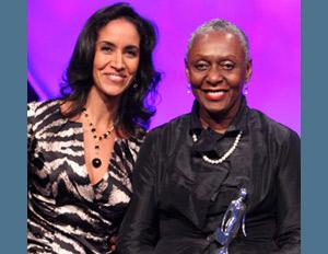 Clarke & Hardison at the 2011 Women of Power Summit