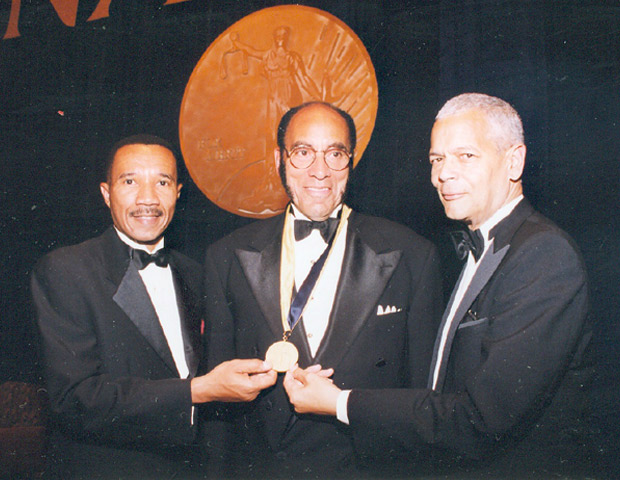 "On the significance receiving NAACP Spingarn Medal  ""Because of the impact of our message, I have received more than 44 honorary degrees, been named one of The Journal of Financial Reporting Group's Top 100 Business Journalism Luminaries of the Century, been made a Fellow of the Academy of Arts & Sciences, and have been awarded the honor that has given me immeasurable pride, the NAACP's Spingarn Award, which is considered the highest civil tights accolade in the nation. I have always said that these awards recognize the magazine's role in uplifting African Americans."""