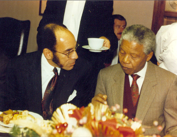"On his first meeting with former South African President Nelson Mandela   ""The new South Africa needs us. To be specific, if a truly, multiracial state will grow out of apartheid's ashes, it needs contributions of African American skills and financial resources. That was the message President Mandela delivered to a gathering of prominent black American business and political leaders when he visited BLACK ENTERPRISE's offices a year after he gained his freedom. Black America has created, sustained and grown its own businesses and sent executives to the nation's largest corporations. South Africa needs this knowledge."""