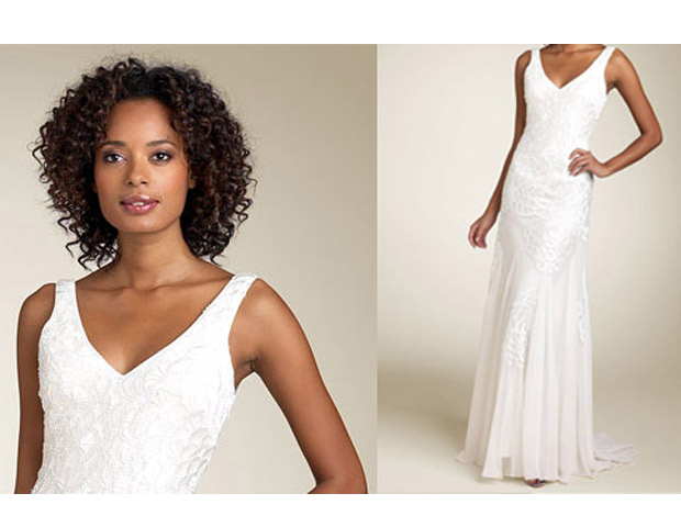 Another place to consider for wedding dress deals are department stores, like Nordstrom. The least expensive gown on the Website right now is $98.