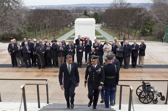Arlington Cemetery - awards Official White House Photo by Pete Souza