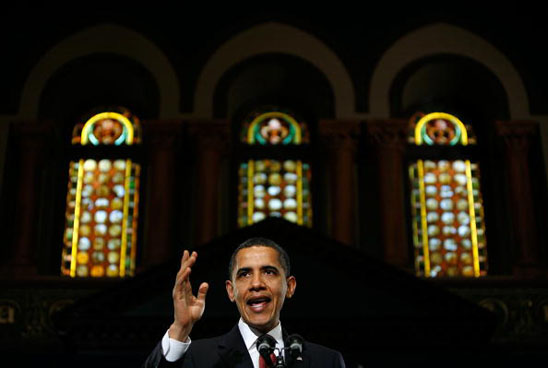 President Obama Addresses The Economy At Georgetown University