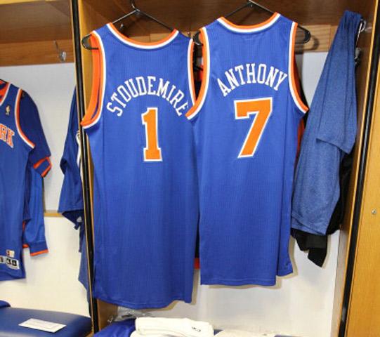Carmelo Anthony & Amar'e Stoudemire Knick jerseys