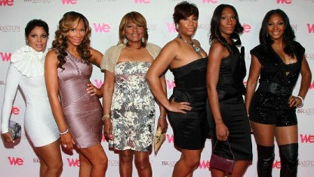 All in the Family: (L-R) Toni, Tamar, Evelyn, Traci, Towanda and Trina (Image: Getty)