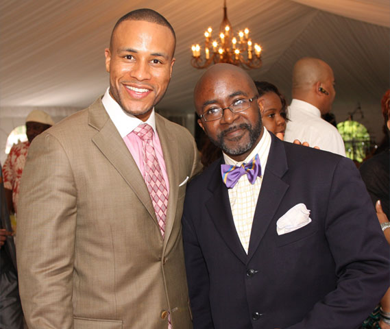 Author and Sony Pictures' executive DeVon Franklin with Black Enterprise Multimedia Editor-at-Large and UBR Host Alfred Edmond Jr.