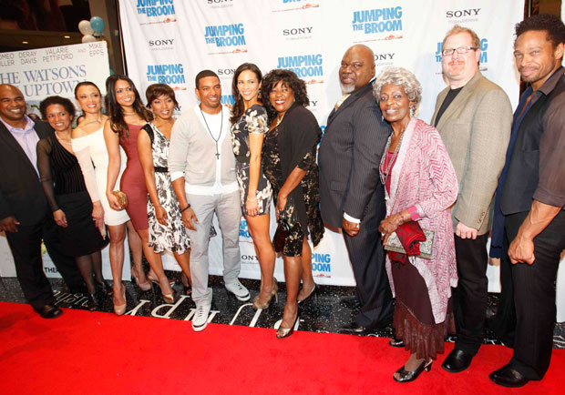 The cast and crew of Jumping the Broom come out in full force