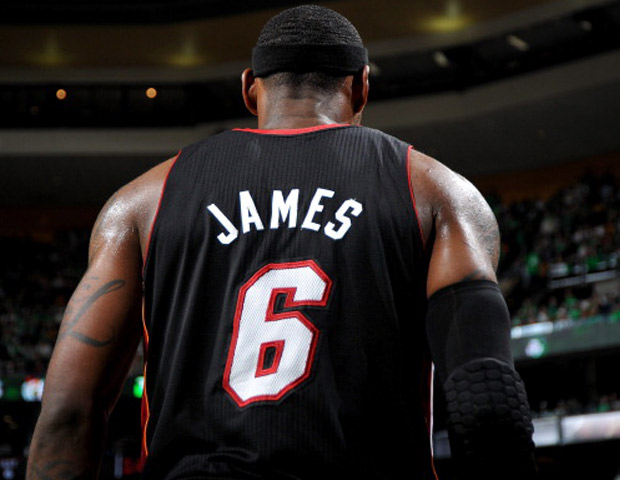 Lebron James Miami Heat jersey back