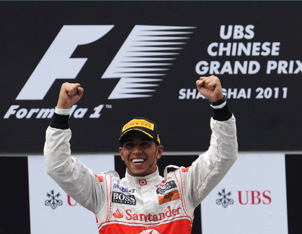 British racecar driver Lewis Hamilton