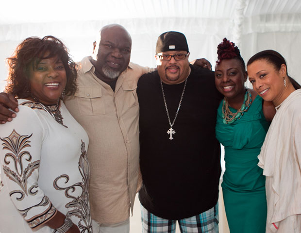 Loretta Devine, T.D. Jakes, Fred Hammond, singer Ledisi, Valarie Pettiford at Easter brunch