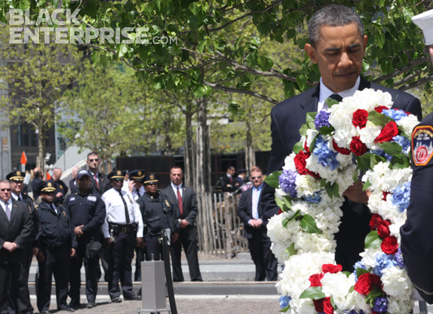 EXCLUSIVE PHOTOS: President Obama Pays Homage to 9/11 Victims