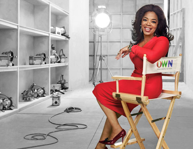 Oprah Winfrey in OWN director's chair