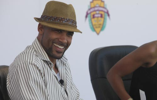 Boris Kodjoe laughs it up.