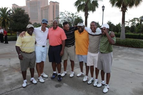 BLACK ENTERPRISE CEO Earl Butch Graves, Jr., with golfing buddies.