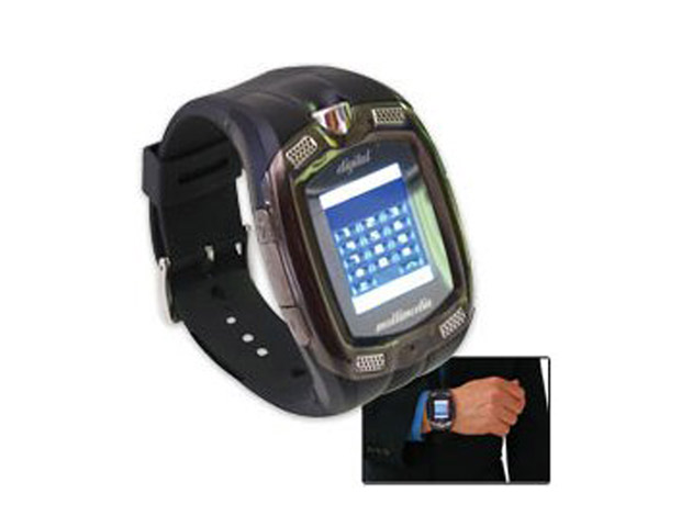 Cell phone watch   Dick Tracy won't have anything on your grandfather once you buy him a DMA M810 full color, touch screen watch with a built in cell phone and matching earpiece. Watch him transform from a tech adverse baby boomer to a tech savvy teen as this timepiece takes him back to his heyday. The watch has a 1.3M Pixel camera, records video, sounds, and plays MP3.  Plus, since the watch is attached to him, it could be a lifesaver in the event of an emergency where he can't reach a telephone. Buyer beware: It is compatible with the SIM cards of GSM900, 1800/1900 phones.