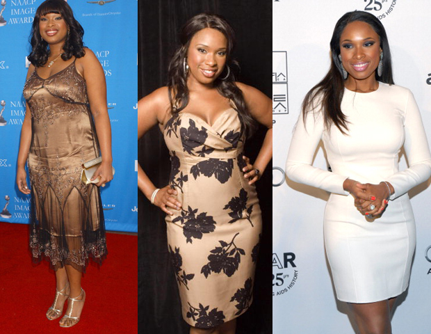 After becoming the spokesperson for Weight Watchers, singer Jennifer Hudson had what many thought was a drastic drop in weight, from a size 16 to 6. Reportedly, she was motivated by wanting to improve her health for the sake of her son and welcomed the improvement to her image. Her weight loss opened up her love for fashion and her aspirations to continue landing star roles, including playing Winnie Mandela, a film about the activist's life to be release later this year. She is scheduled to write a book that centers around her weight-loss journey, due out January 2012.