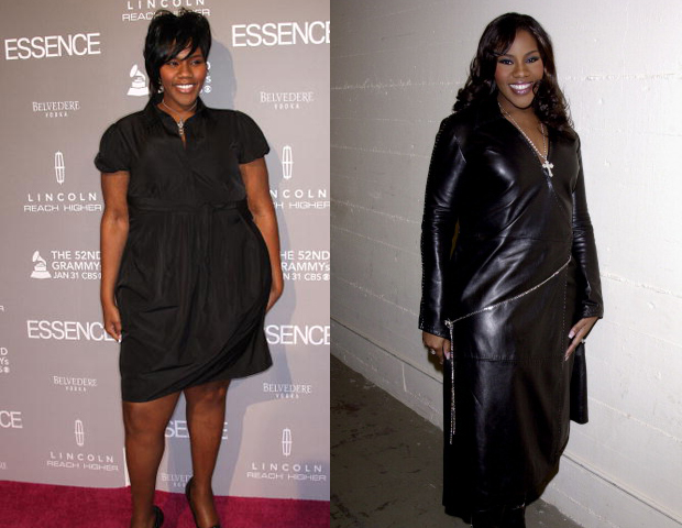 Kelly Price's powerful voice was often featured on tracks of superstars including Diddy, Notorious B.I.G, and Ronald Isley, but she was often not seen in their videos. She's admitted in recent interviews that her weight was a challenge when it came to being seen---not just heard--- in the industry. Price's weight has fluxuated throughout her career, with her having been size 12 to size 18. In an interview on The Wendy Williams Show, Price said she was motivated to make a change after witnessing family illness and death, and today she maintains healthy eating habits and regular exercise.