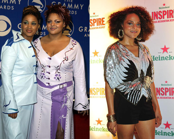 Singer Marsha Ambrosius formerly of duet Floetry, dropped a reported 80 lbs since 2003, saying that initially the weightloss was due to stress after a family member's death. She's since taken a more healthy route, deciding to slim down with the Weight Watcher's plan.