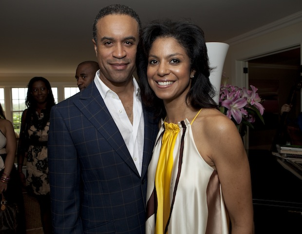 Gala emcee and CBS2 News anchor Maurice Dubois with wife Andrea.