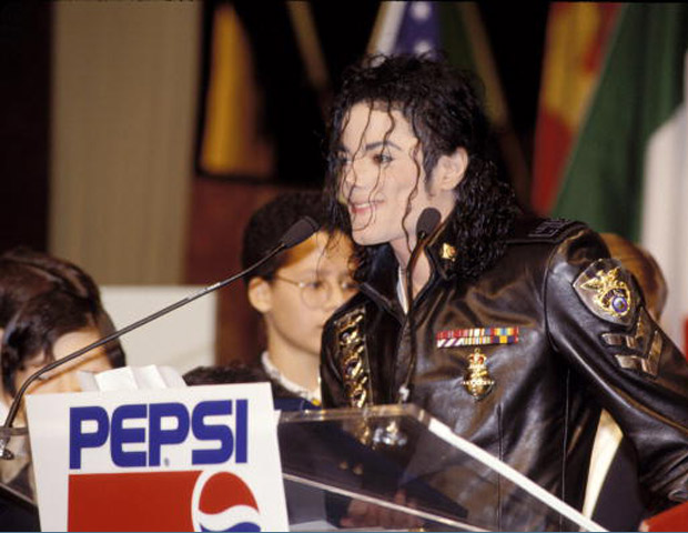Michael Jackson with Pepsi